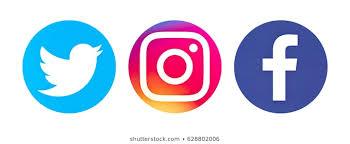 facebook, twitter and Instagram logos